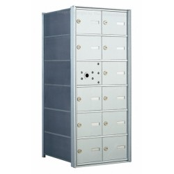 12 A-size Door Horizontal Mailbox Unit - Front Loading - 140062A