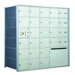 30 OUA-size Door Horizontal Mailbox Unit and 1 Outgoing Mail Collection - Front Loading - 140075OUA