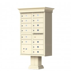 13 Tenant Door Classic Decorative CBU Mailbox (Pedestal Included) - Type 4 - 1570-13AF-DC