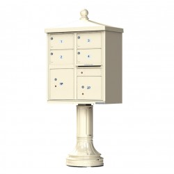 4 Door 2 Parcel Lockers Traditional Decorative CBU Mailboxes
