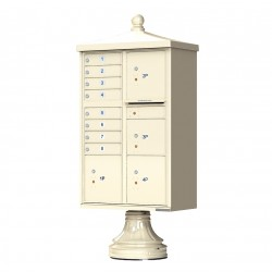 8 Door 4 Parcel Lockers Traditional Decorative CBU Mailboxes