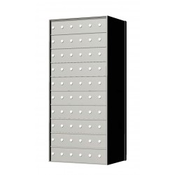 Standard 60 Door 10 High Horizontal Mailbox Unit - Rear Loading - 1700106A