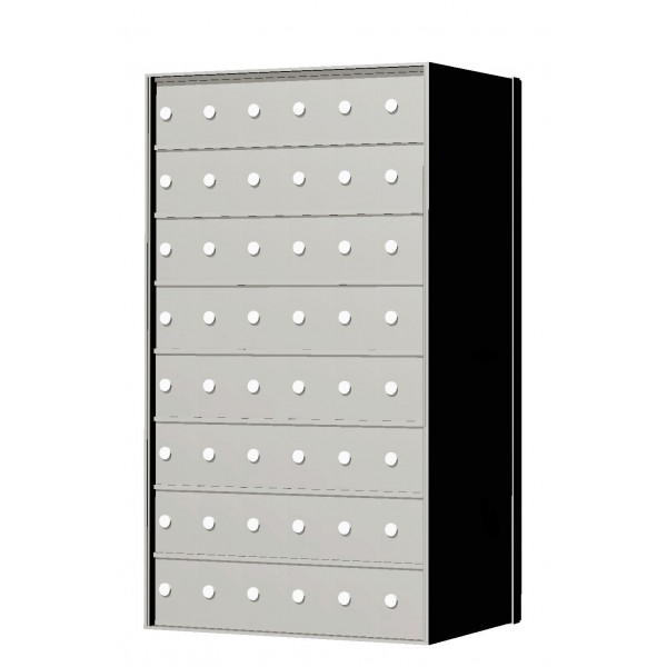 Custom 48 Door 8 High Horizontal Mailbox Unit - Rear Loading - 170086SP