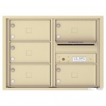 5 Oversized Tenant Doors with Outgoing Mail Compartment - 4C Wall Mount 6-High Mailboxes - 4C06D-05X