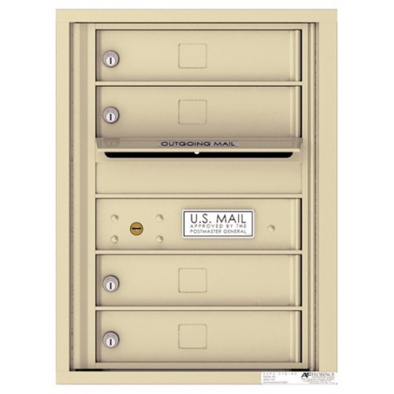 4 Tenant Doors With Outgoing Mail Compartment 4c Wall Mount 6 High Mailboxes 4c06s 04