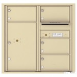 4 Oversized Tenant Doors with 1 Parcel Locker and Outgoing Mail Compartment - 4C Wall Mount 8-High Mailboxes - 4C08D-04