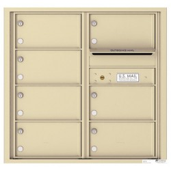 7 Oversized Tenant Doors with Outgoing Mail Compartment - 4C Wall Mount 8-High Mailboxes - 4C08D-07