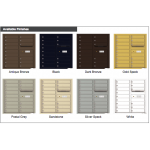15 Tenant Doors with Outgoing Mail Compartment - 4C Wall Mount 9-High Mailboxes - 4C09D-15