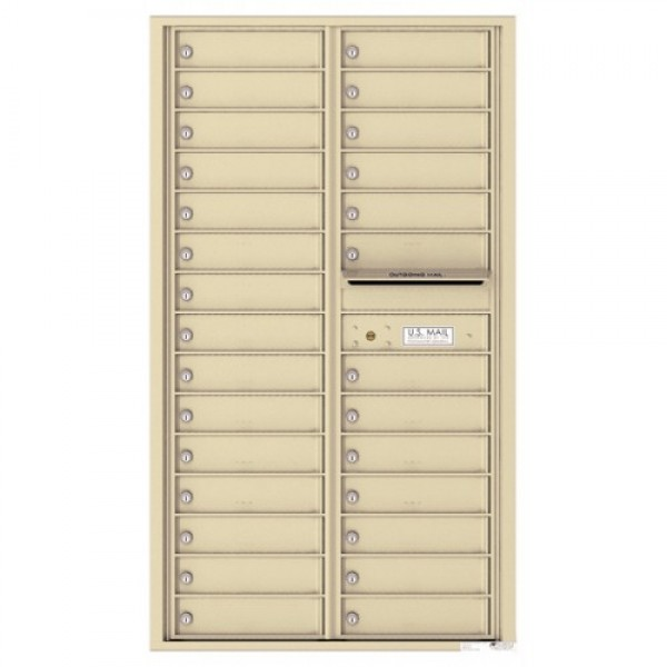 28 Tenant Doors and Outgoing Mail Compartment - 4C Wall Mount 15-High Mailboxes - 4C15D-28