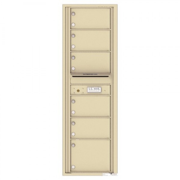 6 Oversized Tenant Doors with Outgoing Mail Compartment - 4C Wall Mount 15-High Mailboxes - 4C15S-06