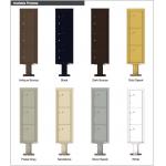 3 Parcel Doors Unit - 4C Pedestal Mount 15-High (Pedestal Included) - 4C15S-3P-P