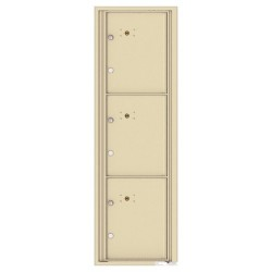 3 Parcel Doors Unit - 4C Wall Mount 15-High - 4C15S-3P