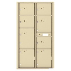 8 Parcel Doors Unit - 4C Wall Mount Max Height - 4C16D-8P