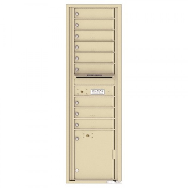 9 Tenant Doors with 1 Parcel Locker and Outgoing Mail Compartment - 4C Wall Mount Max Height Mailboxes - 4C16S-09