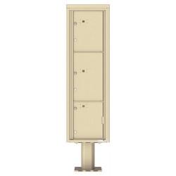 3 Parcel Doors Unit - 4C Pedestal Mount 16-High (Pedestal Included) - 4C16S-3P-P