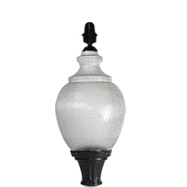 AA WITH GF-1 - Luminaire with acrylic -26A globe, globe holder and decorative GF-1 finial