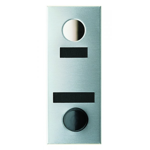 Mechanical Door Chime with Round Mirror Viewer and Name Cards (Anodized Aluminum) - 684101-01
