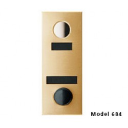 Mechanical Door Chime with Round Mirror Viewer and Name Cards (Anodized Gold) - 684102-01