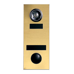 Mechanical Door Chime with Standard Viewer and Name Cards (Mirror Gold) - 686106-01