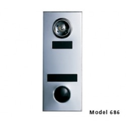 Mechanical Door Chime with Standard Viewer and Name Cards (Silver) - 686105-01