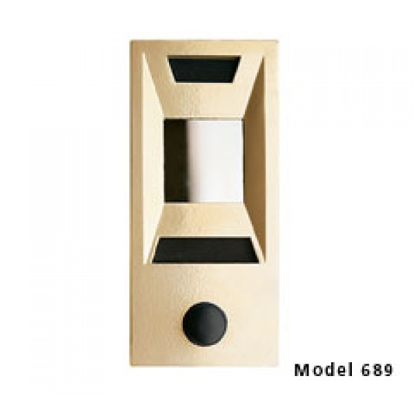 Mechanical Door Chime with Square Mirror Viewer and Name Cards (Gold) - 689106-01