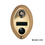 Mechanical Door Chime with Name Cards (Anodized Gold) - 690-1