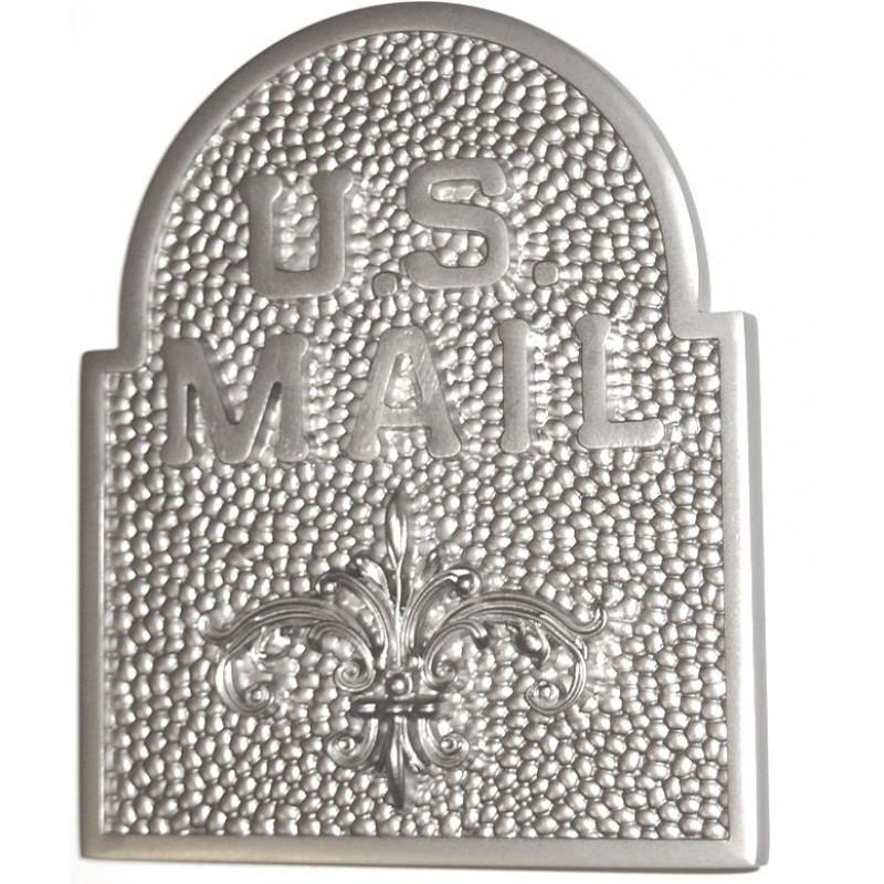US MAIL SNF / Fleur De Lis Door Accent   Satin Nickel