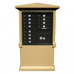 Estateview Stucco CBU Mailbox Center - Tall Pedestal (Stucco Column Only) For 8 or 12 Door CBU - Burnt Tuscan Color